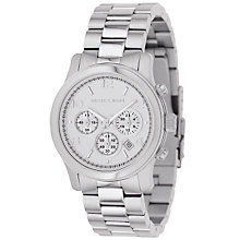 Buy Michael Kors MK5076 Women's Chronograph Bracelet Strap Watch, Silver Online at johnlewis.com