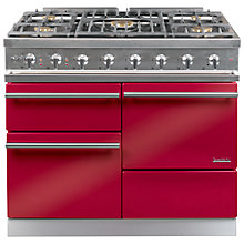 Buy Westahl Macon WG1053GECT Dual Fuel Range Cooker, Chinese Red Online at johnlewis.com