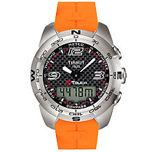 Buy Tissot T-Touch Men's Multi-Function Watch, Orange Online at johnlewis.com