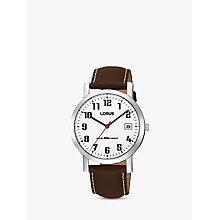 Buy Lorus RXH65EX9 Classic Men's Leather Strap Watch, Brown Online at johnlewis.com