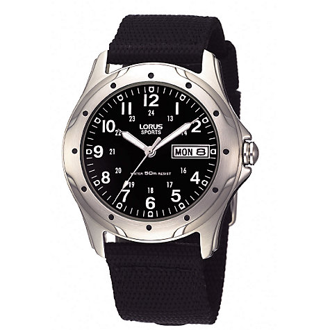 Buy Lorus RXN21BX9 Men's Sports Watch, Black Online at johnlewis.com