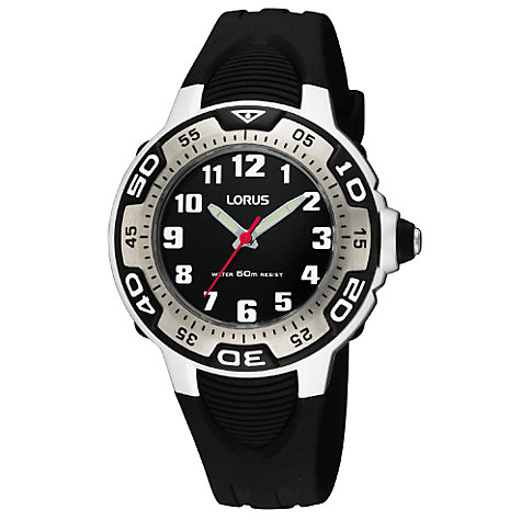 Buy Lorus RG233GX9 Children's Watch, Black Online at johnlewis.com