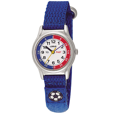 Buy Lorus RG261AX9 Time Teacher Children's Watch, Blue Online at johnlewis.com