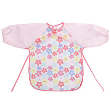 Buy John Lewis Floral Long Sleeve Bib, Pink Online at johnlewis.com