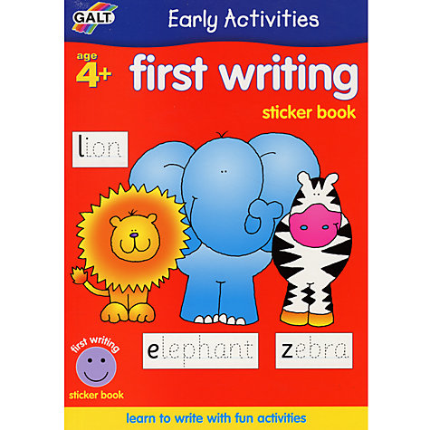 Buy Galt Early Activities First Writing Sticker Book Online at johnlewis.com