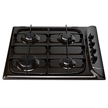 Buy Hotpoint G640SB Gas Hob, Brown Online at johnlewis.com