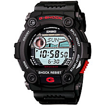 Buy Casio G-7900-1ER G-Shock Tide Graph Men's Watch, Black/Red Online at johnlewis.com
