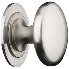 Buy John Lewis Cupboard Knob, Satin Nickel, Dia.38mm Online at johnlewis.com