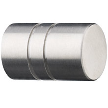 Buy John Lewis Barrel Knob, Stainless Steel, Dia.18mm Online at johnlewis.com