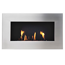 Buy Decoflame® New York Plaza Bioethanol Fire, Brushed Steel Online at johnlewis.com