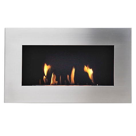 Buy Decoflame® New York Plaza Fire, Brushed Steel Online at johnlewis.com
