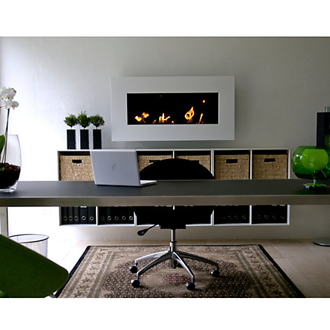 Buy Decoflame® New York Plaza Bioethanol Fire, White Online at johnlewis.com