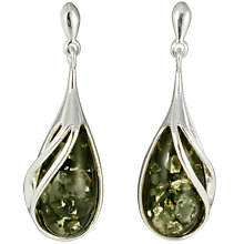 Buy Goldmajor Silver Green Amber Earrings Online at johnlewis.com