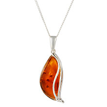 Buy Goldmajor Cherry Amber Silver Pendant Necklace Online at johnlewis.com