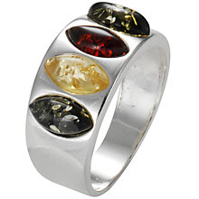 Buy Goldmajor Silver Amber Marquise Ring Online at johnlewis.com