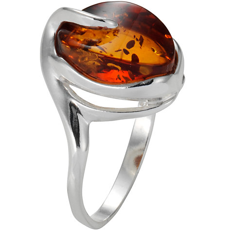 Buy Goldmajor Silver Amber Ring Online at johnlewis.com