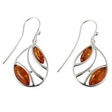 Buy Goldmajor Amber and Silver Round Wavy Drop Earrings Online at johnlewis.com