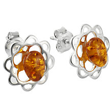 Buy Goldmajor Amber and Silver Earrings Online at johnlewis.com