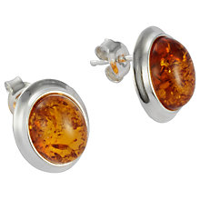 Buy Goldmajor Amber and Silver Large Stud Earrings Online at johnlewis.com