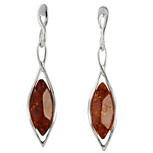 Buy Goldmajor Amber and Silver Drop Earrings Online at johnlewis.com