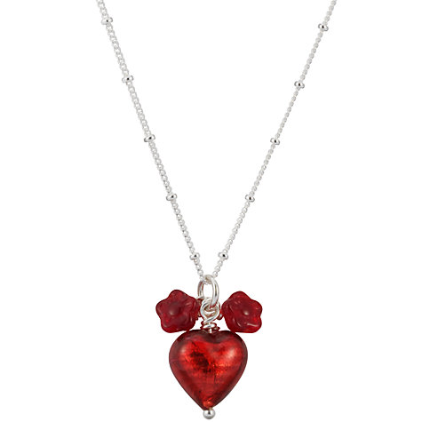 Buy Martick Jewellery Murano Glass Pendant Necklace, Cranberry Online at johnlewis.com