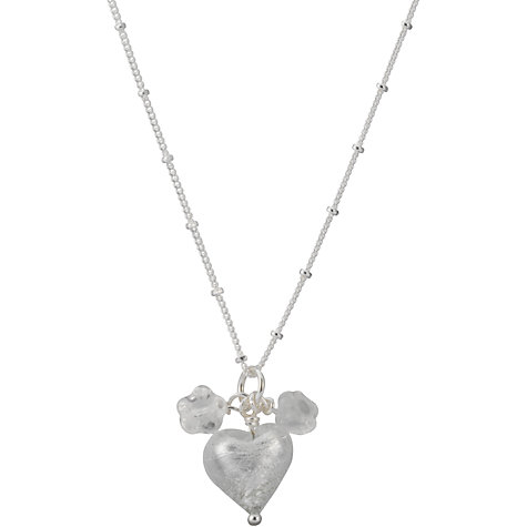 Buy Martick Jewellery Murano Glass Pendant Necklace, Silver Online at johnlewis.com