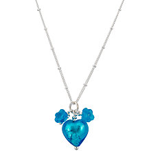 Buy Martick Jewellery Murano Glass Heart Pendant Necklace, Turquoise Online at johnlewis.com
