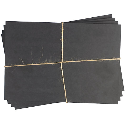 Buy ashortwalk Recycled Cups Rectangular Placemats, Set of 4, Black Online at johnlewis.com