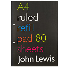 Buy John Lewis Value A4 Refill Pad Online at johnlewis.com