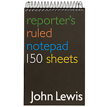 Buy John Lewis Value Reporters Notebook Online at johnlewis.com
