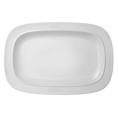 Buy Denby White Squares Platter, 36.5 x 36.5cm Online at johnlewis.com