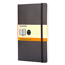 Buy Moleskine Soft Back Ruled Notebook, Large Online at johnlewis.com