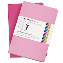 Buy Moleskine Ruled Volant Notebooks, Pack of 2, Pink Online at johnlewis.com
