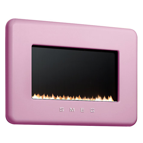 Buy Smeg L30FABPI Flueless Gas Fire, Pink Online at johnlewis.com