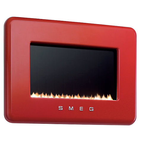 Buy Smeg L30FABREP Flueless Gas Fire, LPG, Red Online at johnlewis.com