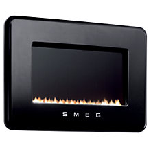 Buy Smeg L30FABBLP Flueless Gas Fire, LPG, Black Online at johnlewis.com