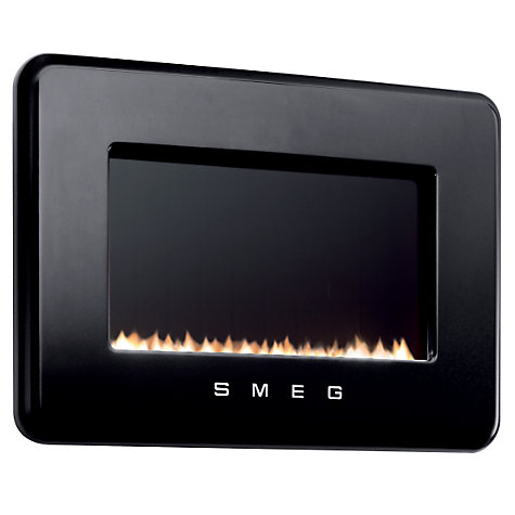 Buy Smeg L30FABBL Flueless Gas Fire, Black Online at johnlewis.com