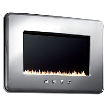 Buy Smeg L30FABSIP Flueless Gas Fire, LPG, Silver Online at johnlewis.com
