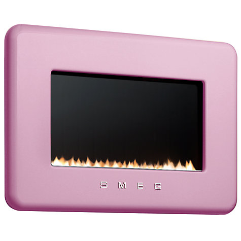 Buy Smeg L30FABPIP Flueless Gas Fire, LPG, Pink Online at johnlewis.com