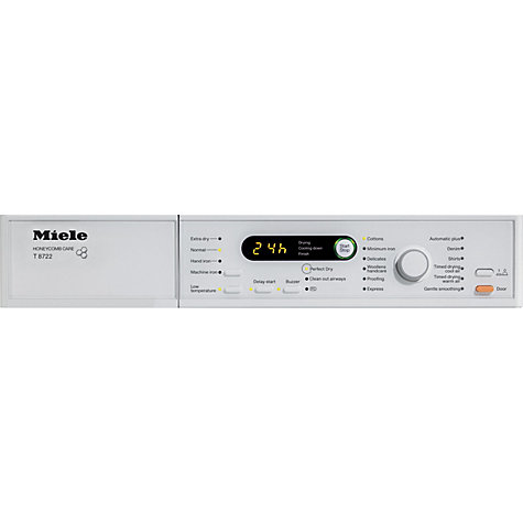 Buy Miele T8722 Vented Tumble Dryer, 7kg Load, C Energy rating, White Online at johnlewis.com