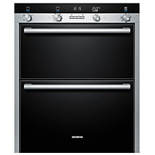 Buy Siemens HB55NB550B Double Built-Under Electric Oven, Stainless Steel Online at johnlewis.com