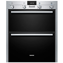 Buy Siemens HB43NB520B Built-Under Double Electric Oven, Stainless Steel Online at johnlewis.com