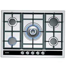 Buy Siemens EC745RC90E Gas Hob, Stainless Steel Online at johnlewis.com