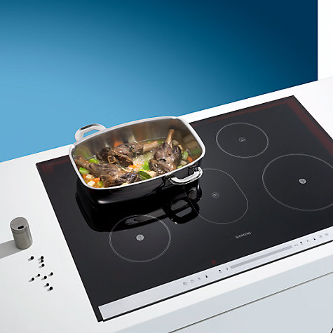 Buy Siemens EH975SK11E Ceramic Induction Hob, Black Online at johnlewis.com
