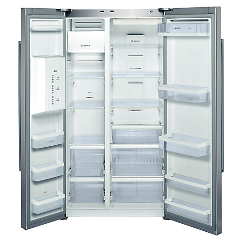 Buy Bosch KAD62V40GB American Style Fridge Freezer, Steel Look Online at johnlewis.com