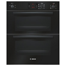 Buy Bosch HBN13B261B Double Built-Under Electric Oven, Black Online at johnlewis.com