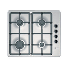 Buy Neff T21S36N1 Gas Hob, Stainless Steel Online at johnlewis.com