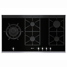 Buy Neff T69S86N0 Gas Hob, Black Online at johnlewis.com