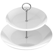 Buy Porcelain Cake Stand, 2 Tier Online at johnlewis.com