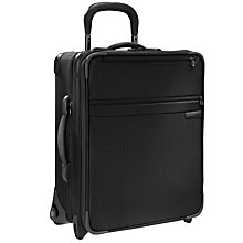 "Buy Briggs & Riley 20"" Wide-Body Expandable Upright Cabin Bag, Black Online at johnlewis.com"
